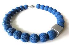 A Sign *Denim Blue* Lava Halskette/Kette Aluminium Würfel Blau Edelstahl-Magnet