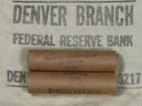 (ONE) FRB Denver Lincoln Wheat Cent Penny Roll 50 Pennies 1909-1958 P D S