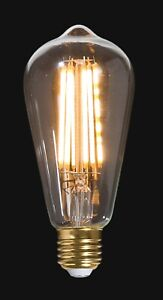 LED Vintage Style Light Bulb w/Squirrel Cage Filament E26 ST64 NEW 47264JB