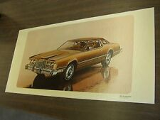 OEM Ford 1974 Thunderbird T-Bird Showroom Poster Display