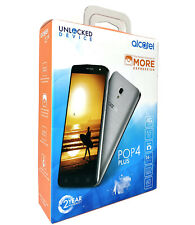 """Alcatel Pop 4 Plus 4G Lte Gsm 5.5"""" 16Gb Android Smartphone Unlocked - Silver"""