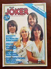 Musik Joker Nr.3 /1977  Zeitung für Musik und Freizeit (ABBA, Chicago)