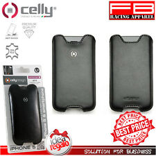 Case Cover Iphone 5 5S Celly Ifit Real Leather Facile Extraction Gift Idea