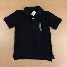 The Children's Place Boys Size Small 5/6 Black Uniform Pique Polo Nwt