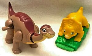 LAND BEFORE TIME Windup LITTLE FOOT & Back and Forth CERA 1997 Burger King