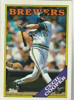 FREE SHIPPING-MINT-1988 TOPPS #769 CECIL COOPER BREWERS  PLUS BONUS CARDS