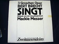 3 GROSCHEN OPER~BEGGARS OPERA~EDITED HISTORIC RECORDINGS~1974~GERMAN ED