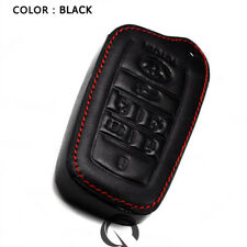 Fits Toyota Velfire Alphard 2013 15 16 18 Key Remote Cover Leather Thread Black