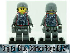Navy Digital Camo B12 Tactical Vest for LEGO army military brick minifigures