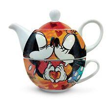 SWEET LOVE Tea for One Mickey & Minnie Kanne Tasse EGAN Porzellan Made in Italy