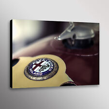 "Vintage Alfa Romeo Racecar Car Photo Wall Art Canvas Print 20""x30"""