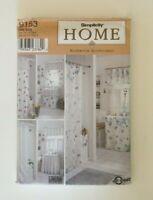 Simplicity Home Pattern 3847 Bathroom Accessories Window Skirt Curtain Vtg 2000