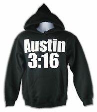 Stone Cold Steve Austin 3:16 Black Hoody Sweatshirt New