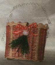 Basket Weaving Pattern Peppermint Stripe Ornament Basket by Julie Kleinrath
