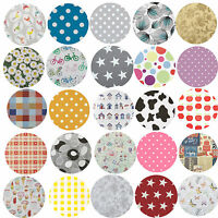 Wipe Clean Tablecloth Oilcloth Vinyl PVC - 140cm ROUND Circle 55 inches