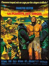 Affiche 60x80cm LA PLANÈTE DES SINGES (PLANET OF THE APES) 1968 Charlton Heston