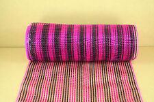 BLACK AND FUCHSIA 10 inch Metallic Mesh Wrap Foil for WREATH Decorating 10 Yards
