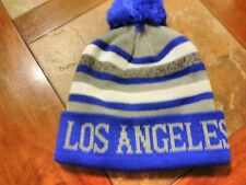 KB ETHOS Royal Blue, White and Gray, One Size Fits All LOS ANGELES Beanie.