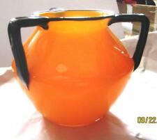 Michael Powolny Czech Loetz Tango Three Handled Vase / Bowl Large and colorful!