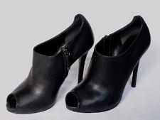 NEW RALPH LAUREN Ladies JASSIE Black Leather Shoe Boot UK 7.5 EU 40 US 10 £545