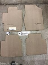 2004-2008 TOYOTA SOLARA CONVERTIBLE CARPET FLOOR MATS IVORY-GENUINE TOYOTA