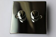 GET Wickes Die Cast Dimmer 2G 2 way 60-250w push on/off rotary Polished Chrome