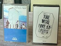 The WHO Live At LEEDS & Who's Next Two (2) Vintage Cassettes lot Pete Townsend