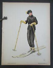 Vintage 1925 Gebrauchsgraphik Skier print by Kurt Heiligenstaedt, Erasmusdruck