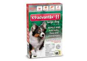 K9 Advantix II Large Dog Dogs 21-55 lbs 6 Month Control Fleas Ticks Mosquitoes