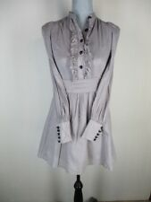 Alice Temperley for Target Gray Fitted Victorian Mini Dress or Long Tunic 1 = XS