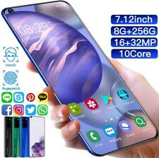 Smart Phone Android 10 S20+ PRO 7.12 Inch System  8g + 256g 4G_5G Free Shipping