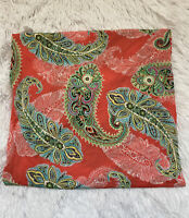Tara Grinna Made in USA Colorful Paisley Print Full Panel Swim Wrap Sarong