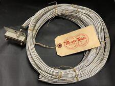 Vintage 50s BENDIX Aviation Radio Wiring 34 Pin Connector L208140-2 Orig Tag NOS
