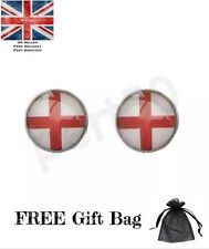 High Quality England Football Rugby St George's Stainless Steel Stud Earrings