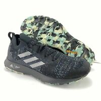 Adidas Men's Terrex Two Parley Black Grey Two Linen Green Trail Run Shoes EF4814