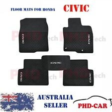 Honda CIVIC Gen 10th Tailored All Weather Rubber Car Floor Mats 2016 onwards
