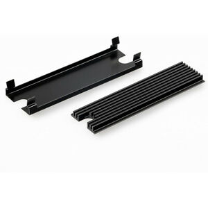 Thermal Grizzly NVMe M.2 SSD Cooler - 2x Thermal Pad, Aesthetic Black Color, SSD