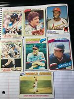 6 baseball Hall of Fame players from the 60's &70'san 1976 world series card.