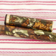 Vintage WATERMAN IDEAL Patricia Patrician MOSS AGATE MOSAIC Fountain Pen Flexi-