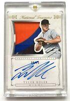 2015 National Treasures TYLER KOLEK Autograph Rookie Jumbo Patch Card SP /15