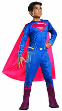Batman v Superman Dawn of Justice Kids SUPERMAN Costume Size Lg 12-14
