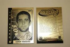 AARON RODGERS Laser Line 2008 Gold Card Limited Edition NM-MT Hologram Signature