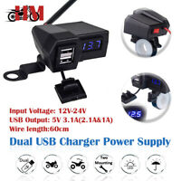 Dual USB Charger Socket For Yamaha V-Star 650 950 1100 1300 Classic Stryker
