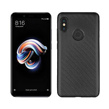 Handy Hülle Karbondesign Xiaomi Redmi Note 5 (Pro) Case Schale Pro dünn schwarz