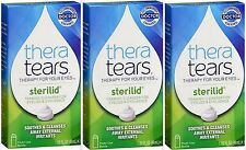 Thera Tears STERILID EyeLid & Eyelash Cleanser 1.62oz (3 pack) PRIORITY INSURED!