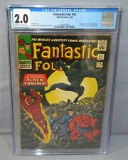 FANTASTIC FOUR #52 (Black Panther, T'Challa 1st app.) CGC 2.0 GD Marvel 1966