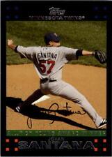 2007 Topps Minnesota Twins Baseball Card #321 Johan Santana CY