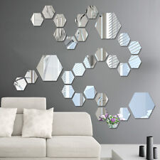 10pcs mini Removable Mirror Decal Mural Wall Stickers Decor DIY Room Decoration