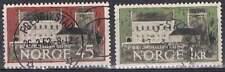 Noorwegen gestempeld 1961 used 456-457 - Hakonahal 700 Jaar (2)
