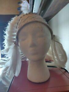 Native American Headdress, White